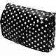 Lindy Lou Black and White Polka Dot PVC Messenger Bag / Flapover Bag