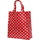 Lindy Lou Red and White Polka Dot PVC Shopping Tote Bag / Shopper