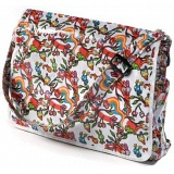 Lindy Lou Psychedelic Woodland PVC Messenger Bag / Flapover Bag