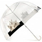 Lindy Lou Westies Dogs Windproof Domed Umbrella / Dome Brolly