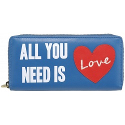 Lyla and Tilly All You Need Is Love Large Leather Purse