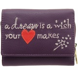 Lyla and Tilly A Dream Is A Wish Your Heart Makes Leather Purse