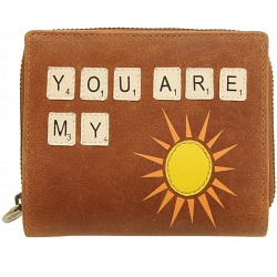You are my sunshine leather purse from Lyla & Tilly  ( LT1012-SS )