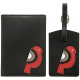 Lyla and Tilly Leather Bird Passport Holder and Luggage Tag