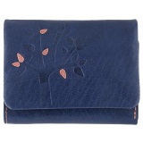 Lyla and Tilly Tree Emboss Small Leather Flap Over Purse