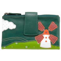 Lyla and Tilly Windmill Applique Leather Purse