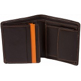 Mala Leather Axis Shirt Wallet with Coin Pocket