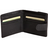 Mala Leather Origin Leather Tab Wallet with Coin Tray Pocket