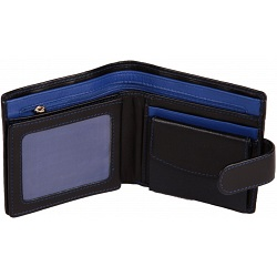 Mala Leather Axis Mens Leather Tab Wallet with Coin Pocket