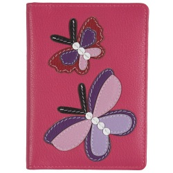 Mala Leather Butterfly Passport Holder