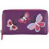 Mala Leather Butterfly Zip Round Purse