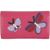 Mala Leather Butterfly Flap Over Purse