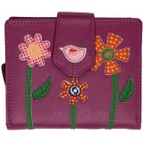 Mala Leather Twinkle Medium Leather Tab Purse