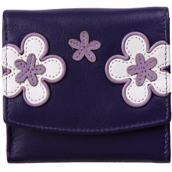 Mala Leather Enya Small Flap Over Leather Purse