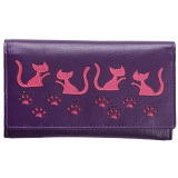Mala Leather Poppy Cat Flap Over Leather Purse
