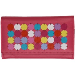 Mala Leather Ruby Flap Over Leather Purse