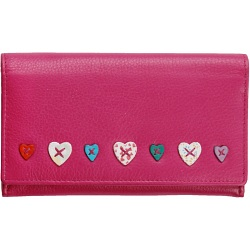 Mala Leather Lucy Flap Over Leather Purse