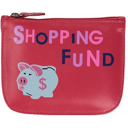 Mala Leather Pinky Shopping Fund Zip top Leather Coin Purse