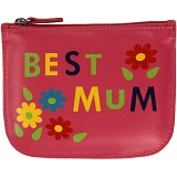 Mala Leather Pinky Best Mum Leather Zip Top Coin Purse