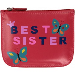 Mala Leather Pinky Best Sister leather coin purse 569-11