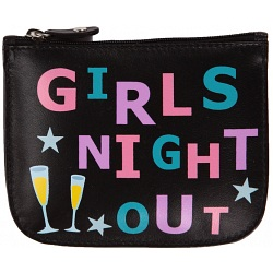 Mala Leather Pinky Girls Night Out Leather Zip Top Coin Purse