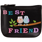 Mala Leather Pinky Best Friend Leather Zip Top Coin Purse