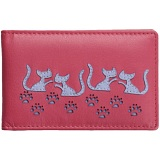 Mala Leather Poppy Cat Leather ID Holder