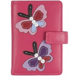 Mala Leather Butterfly Credit Card Holder