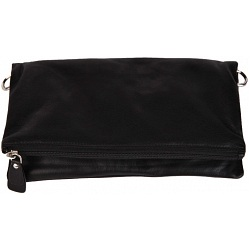 Mala Leather Anishka Flap Over Leather Clutch Bag
