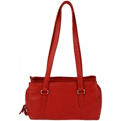 Mala Leather Anishka Three Section Leather Shoulder Bag / Handbag