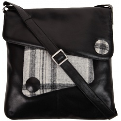 Mala Leather Abertweed Large Leather Across Body Bag