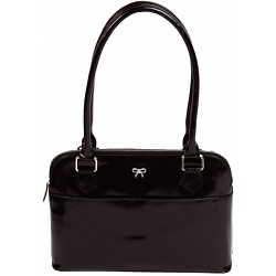 Mala Leather Allure Luxury Patent Leather Shoulder Bag