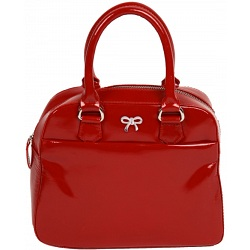 Mala Leather Allure Red patent leather grab bag 736-58