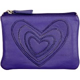 Mala Leather Pinky Purse - Applique Hearts Coin Purse
