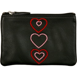 Mala Leather Pinky Purse - Open Hearts Coin Purse