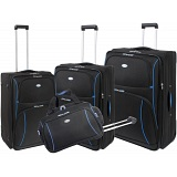 Pierre Cardin Neon 4 Piece Expander Luggage / Suitcase Set