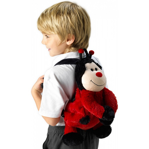 Pillowheads Ladybird Childrens Furry Animal Backpack   Rucksack 1ba7aae9ccef3