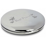PMC Compact Makeup Handbag Mirror Engraved with Best Friend