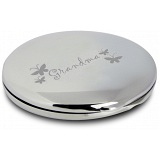 PMC Round Compact Makeup Handbag Mirror Engraved with Grandma