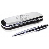 PMC Pen and Box Set Engraved with 50th Birthday