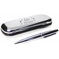 PMC Pen and Box Set Engraved with 60th Birthday
