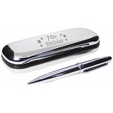 PMC Pen and Box Set Engraved with 70th Birthday