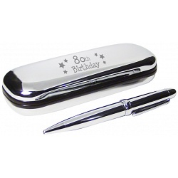 PMC Pen and Box Set Engraved with 80th Birthday