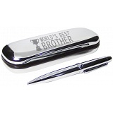 PMC Pen and Box Set Engraved with World's Best Brother