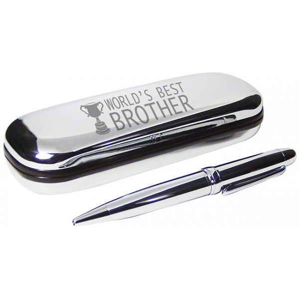 PMC Pen And Box Set Engraved With Worlds Best Brother