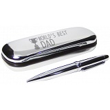 PMC Pen and Box Set Engraved with World's Best Dad