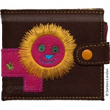 Santoro London Cotton Zoo Lion Pocket Mirror and Photo Wallet
