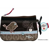 Santoro London Tutti Cuti Viva Vintage Bird Clutch Bag / Wristlet Bag