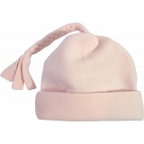 Spotty Dog Pastel Pink Baby Fleece Tassel Bobble Hat / Winter Beanie Cap