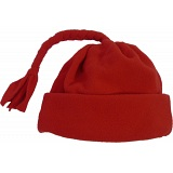 Spotty Dog Red Baby Fleece Tassel Bobble Hat / Winter Beanie Cap